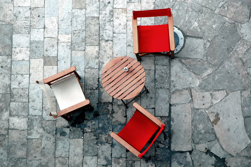Seats and table royalty free stock images