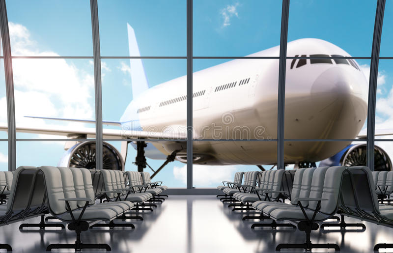 Seatsn vazio no aeroporto fotos de stock