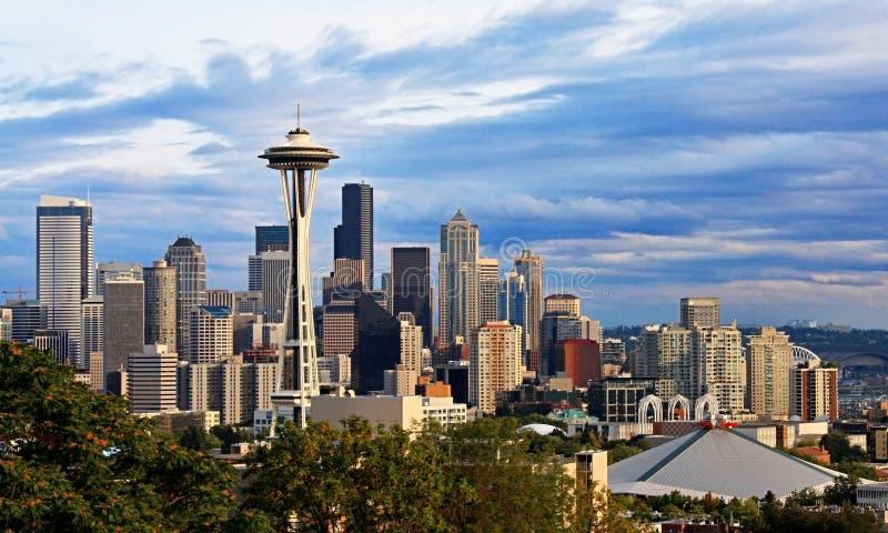 Seatte Stadt-Skyline stockfotos
