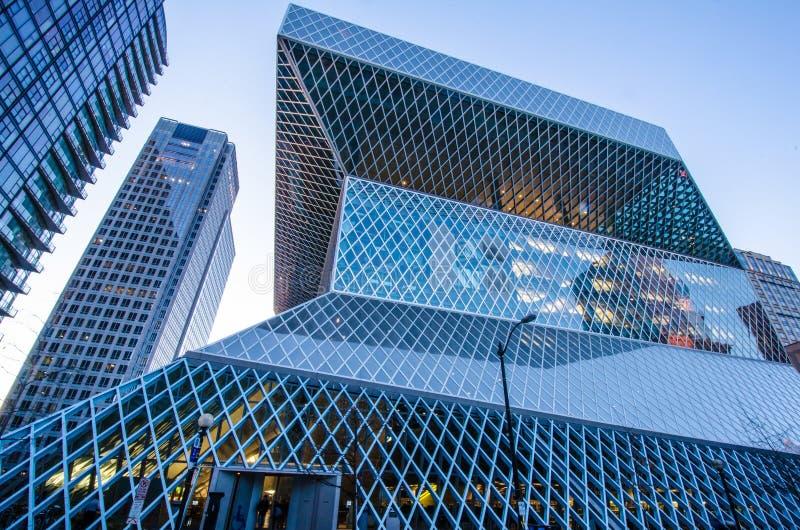 Seattle-öffentliche Bibliothek stockfotografie