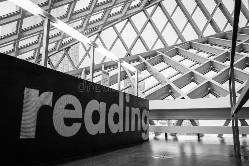 Seattle Środkowej biblioteki najwyższe piętro obraz stock