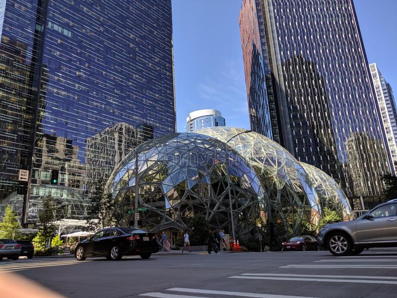 Seattle& x27; архитектура s современная стоковое изображение rf