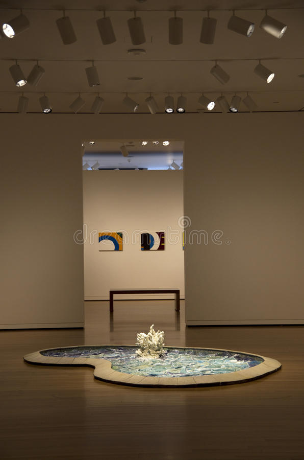 Seattle Art Museum interior lighting stock photography