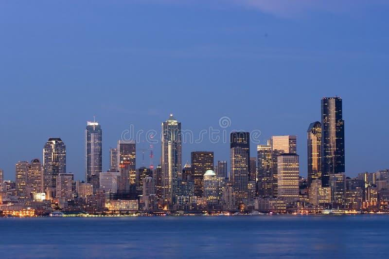Seattle au crépuscule images libres de droits