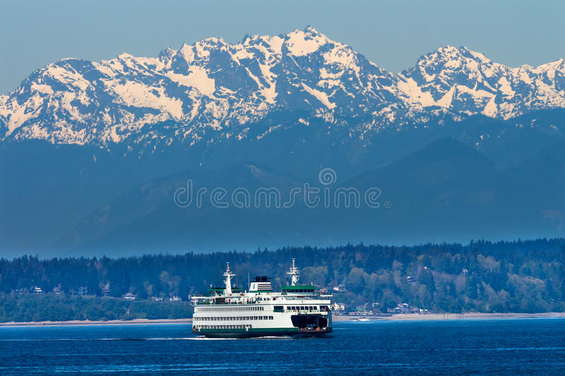 Seattle Bainbridge Island Ferry Puget Sound Washington royalty free stock photos