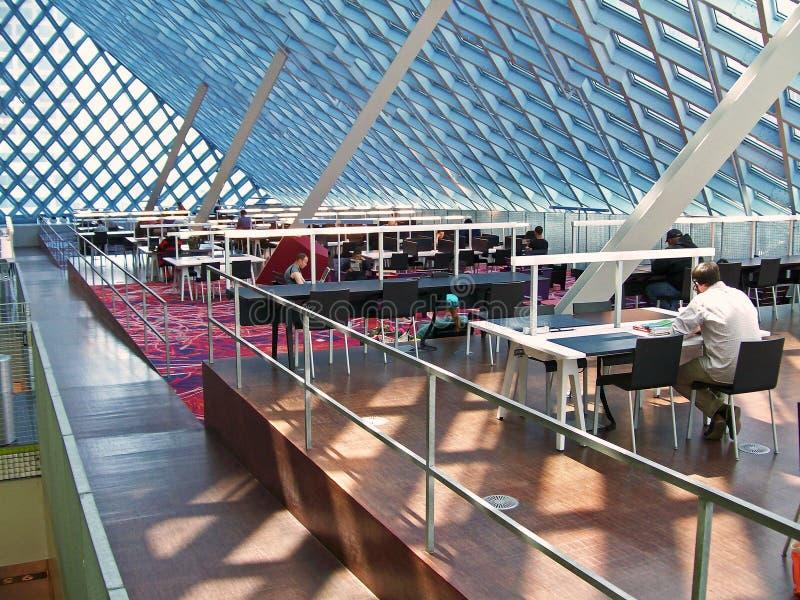 Seattle biblioteki publicznej wnętrze zdjęcia royalty free