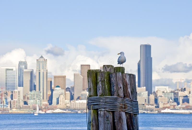 Seattle céntrica foto de archivo libre de regalías