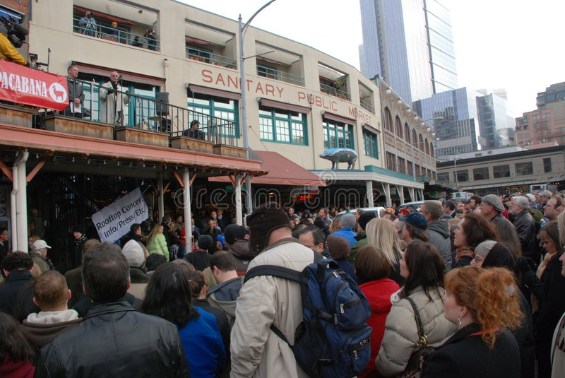 Seattle celebra immagini stock libere da diritti