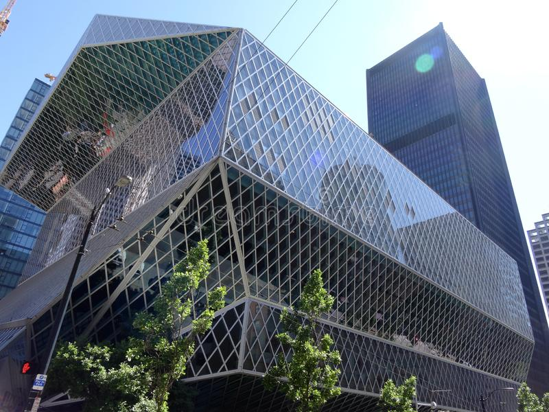 Seattle centralt arkiv royaltyfria bilder
