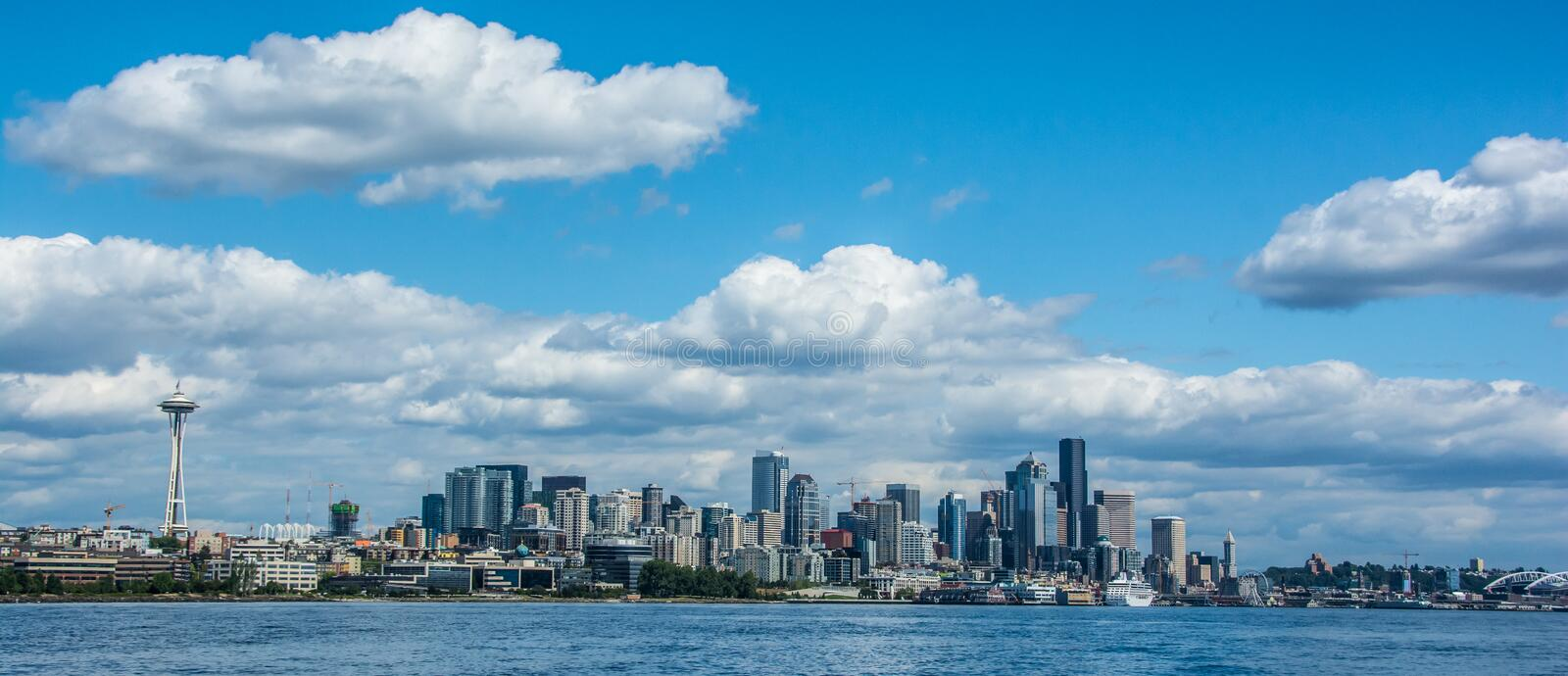 Seattle Cityscape from Magnolia stock photos