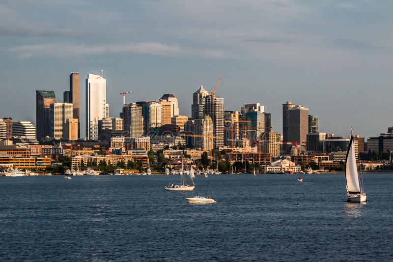 Seattle-Cityscape See-Verband stockfotografie