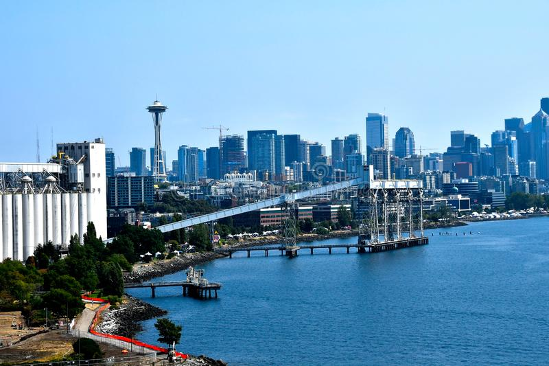 Seattle Cityscape with the Space Needle stock image