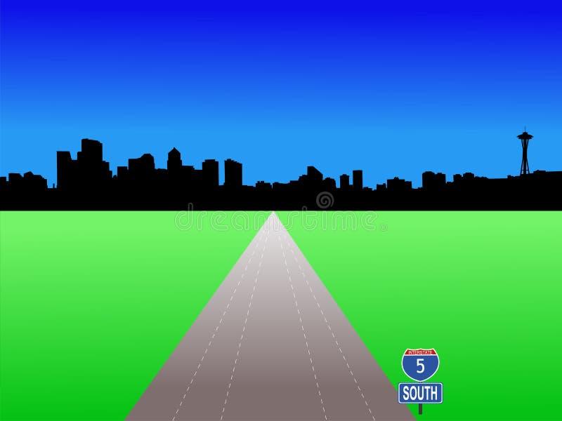 Seattle con la autopista sin peaje libre illustration