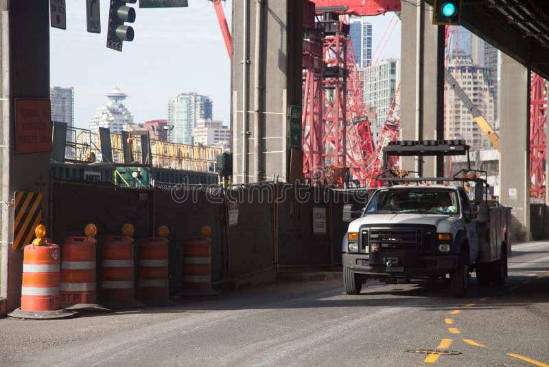 Seattle costa construcción febrero de 2015 imagen de archivo libre de regalías