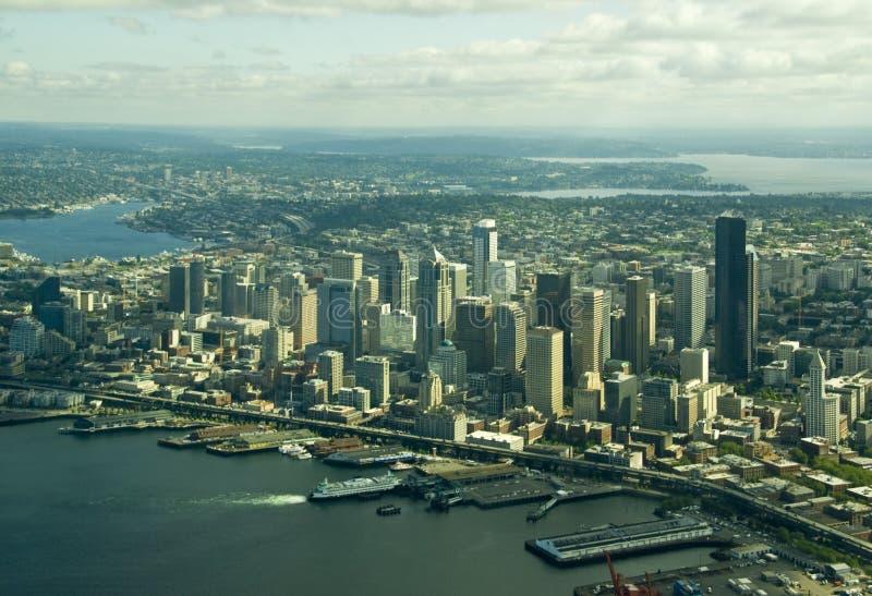 Seattle da baixa de acima fotos de stock