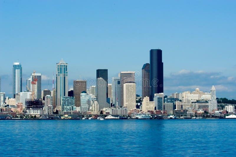 Seattle de stad in stock fotografie