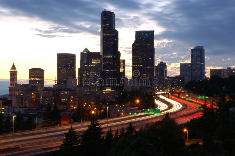 Seattle directa imagen de archivo