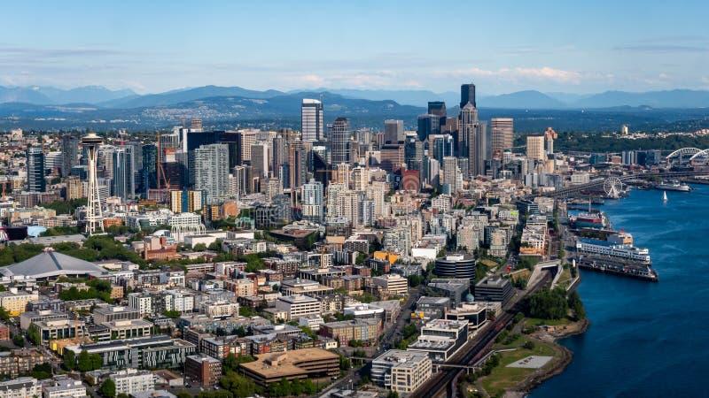 Seattle do centro Washington de cima de fotografia de stock