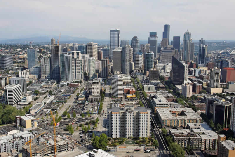 Seattle Downtown Cityscape royalty free stock photo