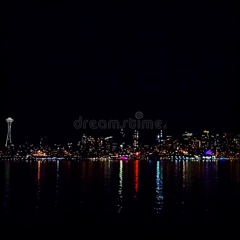 Seattle downtown skyline royalty free stock photo