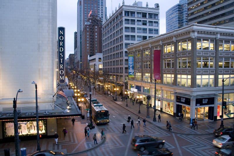 Seattle du centre le soir image stock