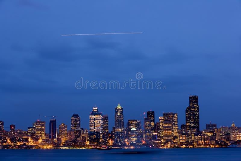 Download Seattle dusk skyline stock image. Image of washington - 9061607
