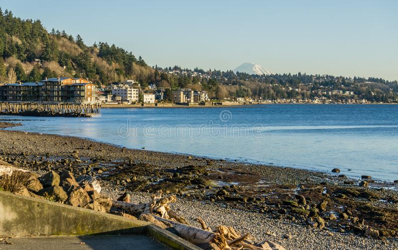 Seattle e pico ocidentais 3 foto de stock royalty free