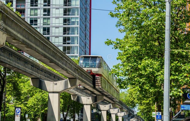 Seattle enskenig järnväg arkivbilder