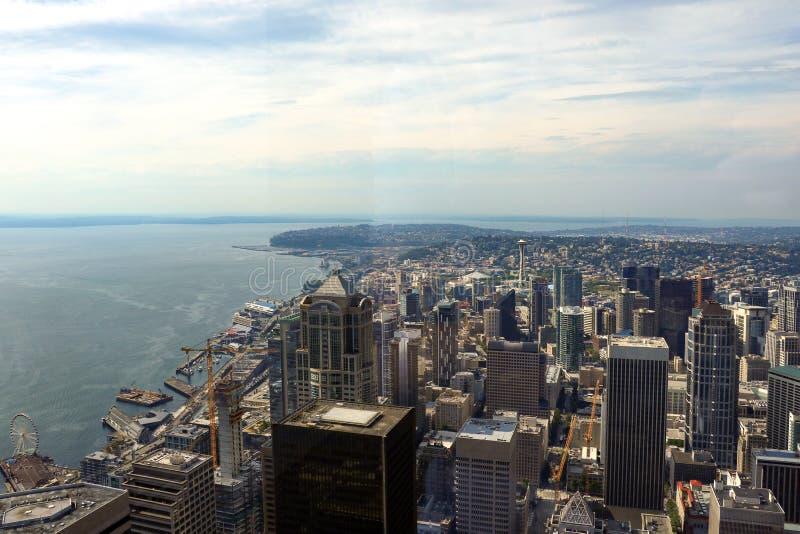 Seattle, Etats-Unis, le 31 août 2018 : Vue d'horizon de Seattle, Etats-Unis image stock