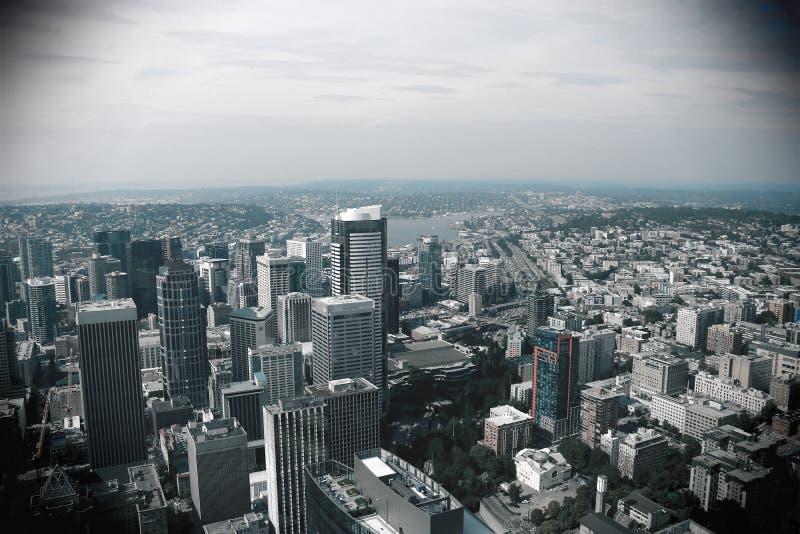 Seattle, EUA, o 31 de agosto de 2018: Seattle do centro, Washington foto de stock royalty free