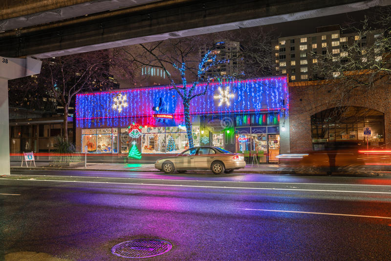 Seattle Glassblowing Studio. At night providing training to aspiring artists stock photography