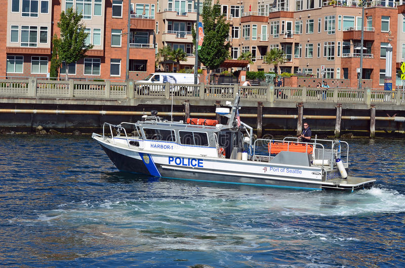 Seattle Harbor Patrol Editorial Stock Image