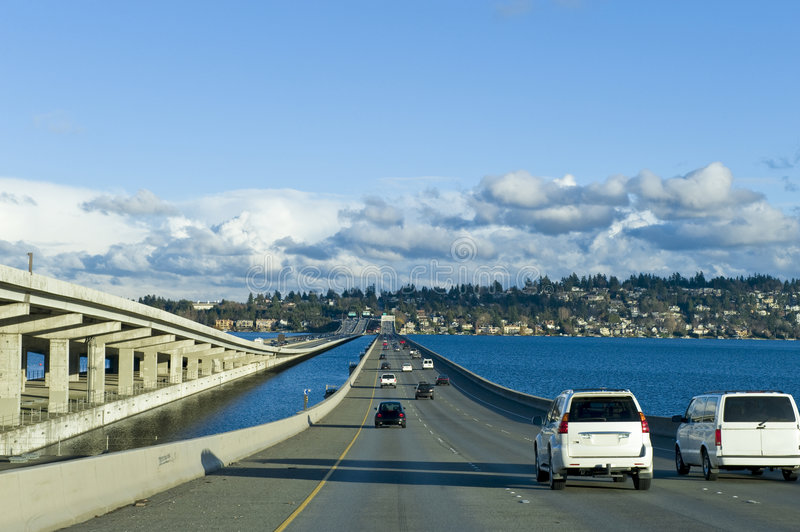 Seattle Highway 90 stock images