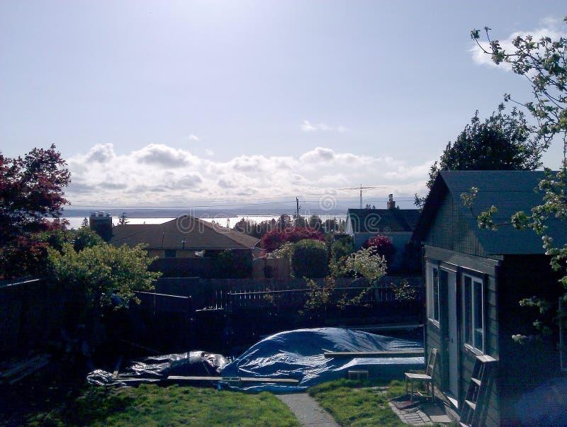 Seattle himmel arkivbild