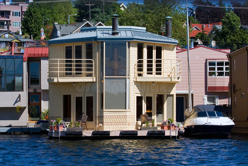 Seattle houseboat royalty free stock photo