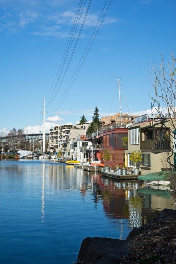 Seattle Houseboats zdjęcie stock