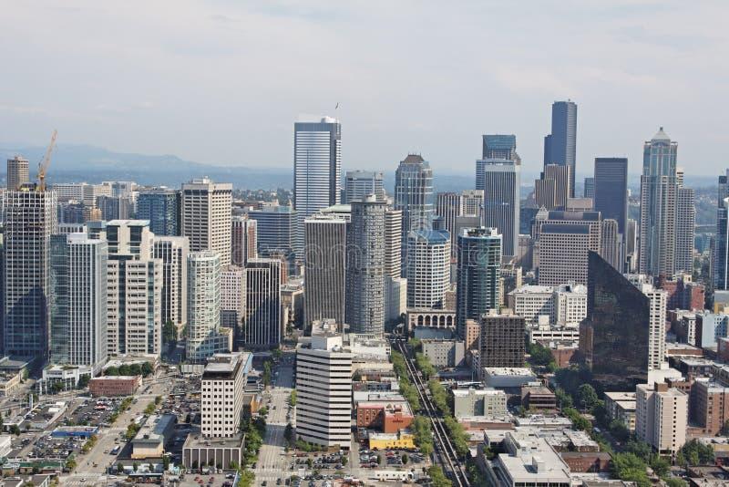 Seattle-im Stadtzentrum gelegenes Stadtbild stockfotos