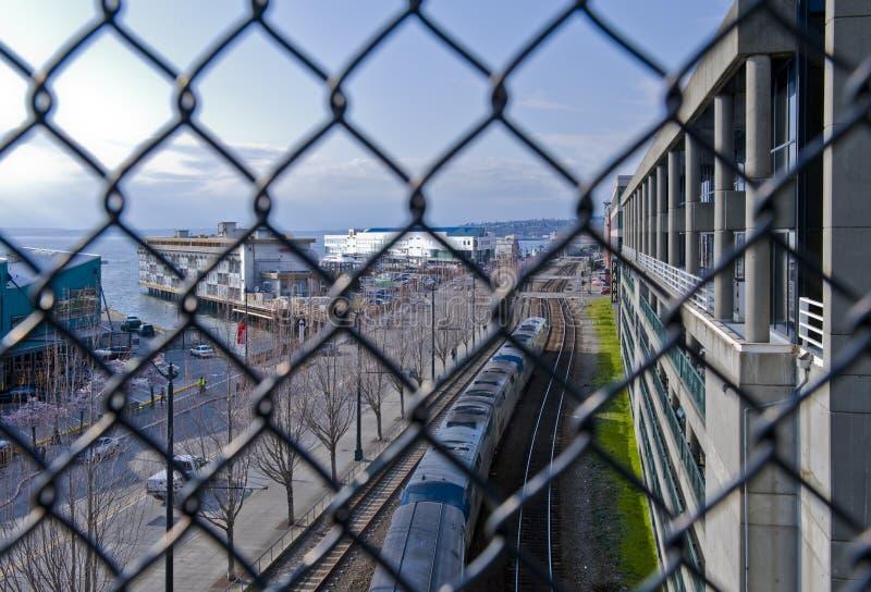 Seattle jest w centrum obrazy royalty free