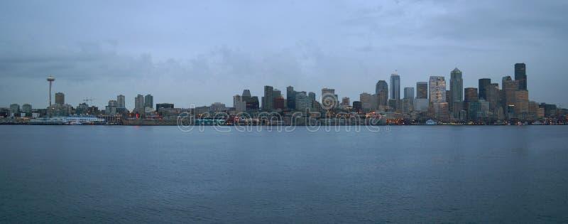 Seattle-Küstenlinie lizenzfreie stockfotos
