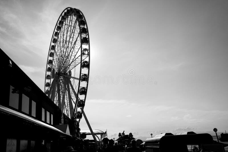 Seattle Koło Ferris zdjęcia stock