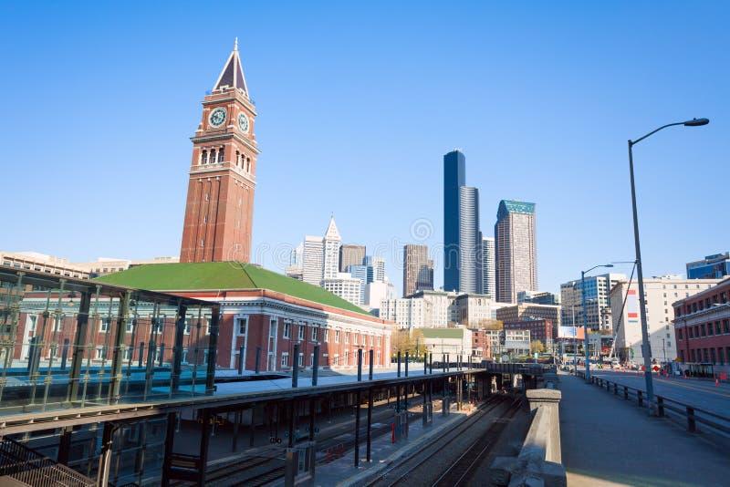 Seattle królewiątka ulicy stacja podczas lata obraz royalty free