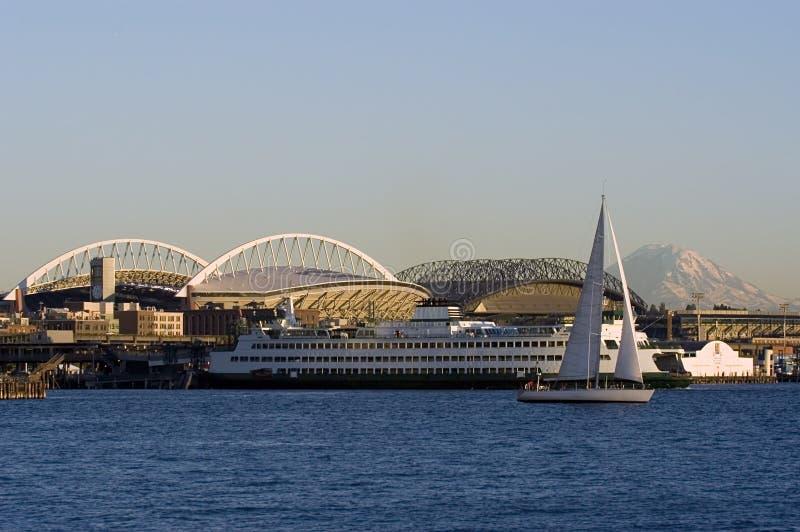 Seattle krajobrazu zdjęcie royalty free
