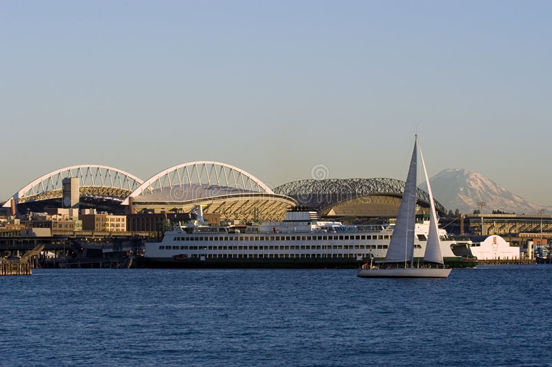 Seattle-Landschaft lizenzfreies stockfoto