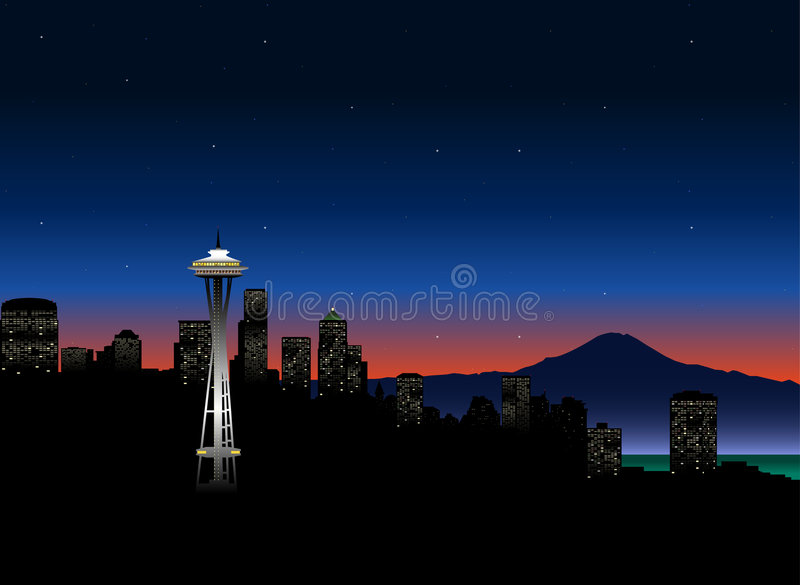 Download Seattle_lights stock vector. Illustration of drawing, commercial - 1164476