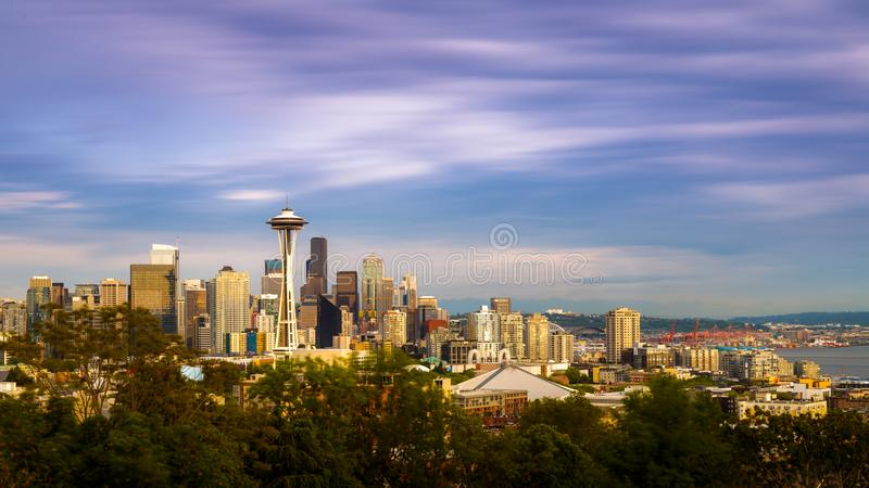 Seattle linia horyzontu obrazy stock