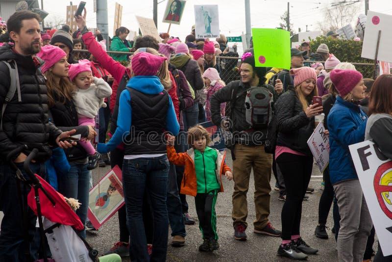 Seattle Maart van Miljoen Vrouwen royalty-vrije stock fotografie