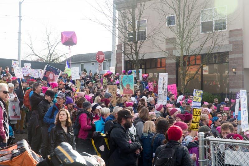 Seattle Maart van Miljoen Vrouwen stock foto