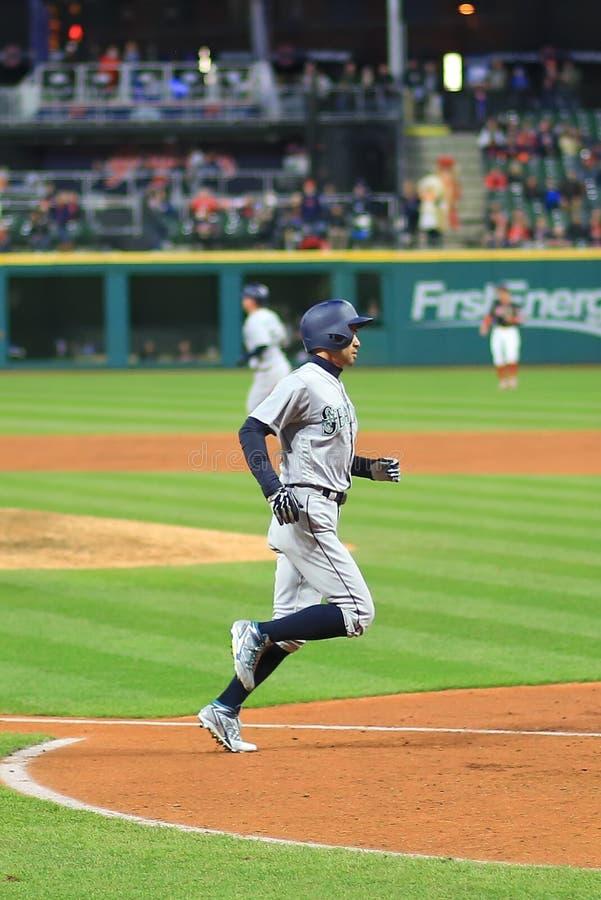 Ichiro Suzuki baseball player. Seattle Mariners Major League Baseball game at Progressive Field in Cleveland , Ohio, USA stock photo