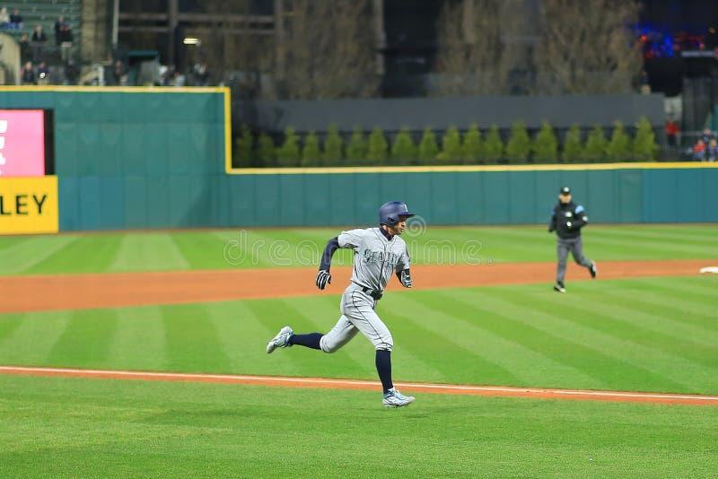 Ichiro Suzuki, Seattle Mariners Baseball Game. Seattle Mariners Major League Baseball game at Progressive Field in Cleveland , Ohio, USA royalty free stock photos