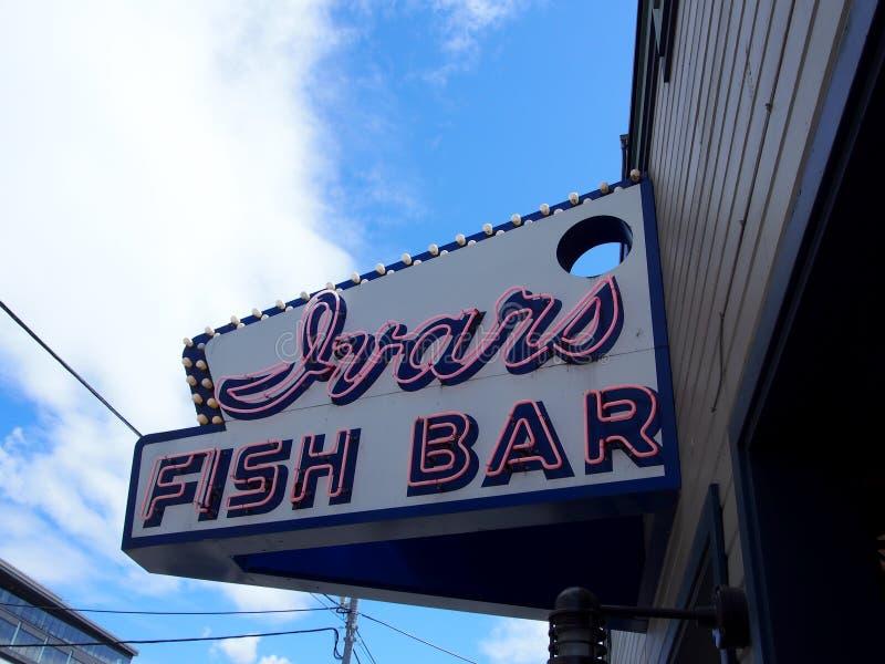 Ivars Fish Bar - Sign royalty free stock photos